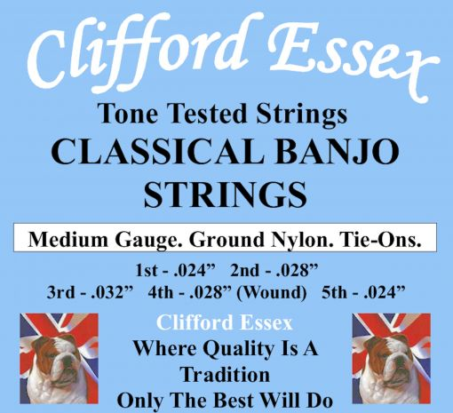CLASSICAL BANJO STRINGS. MEDIUM GAUGE. TIE-ON. 24 - 32.