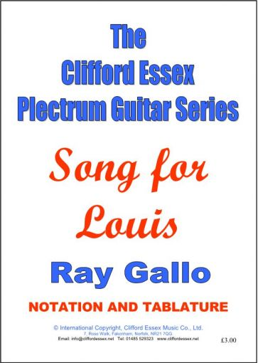 SONG FOR LOUIS BY RAY GALLO.