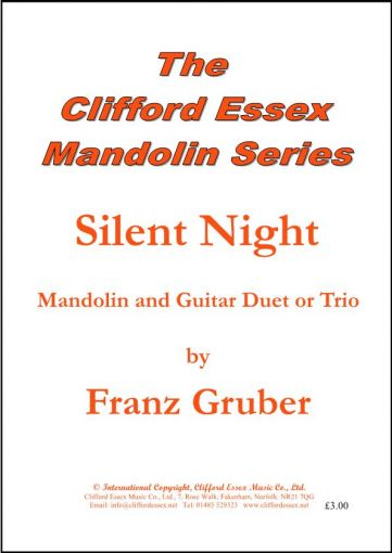 Silent Night, sheet music for mandolin, the well known Christmas Carol. - Sheet music - Mandolin ...