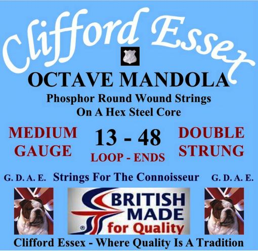 OCTAVE MANDOLA. MEDIUM GAUGE. DOUBLE STRUNG.13 - 48. LOOP-ENDS OR BALL-ENDS.