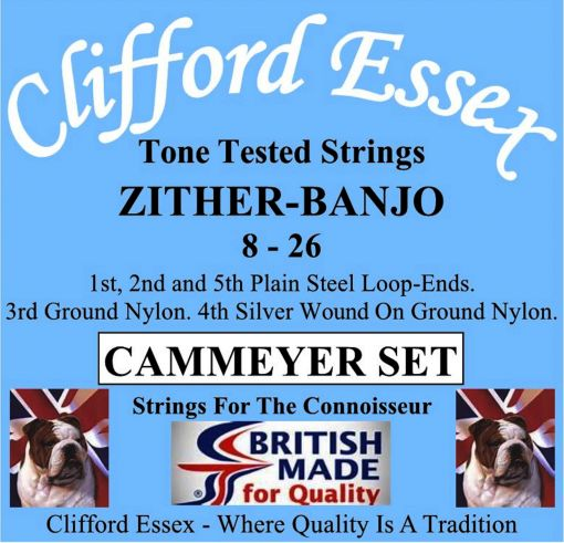 ZITHER-BANJO STRINGS. CAMMEYER SET. 8 - 34.
