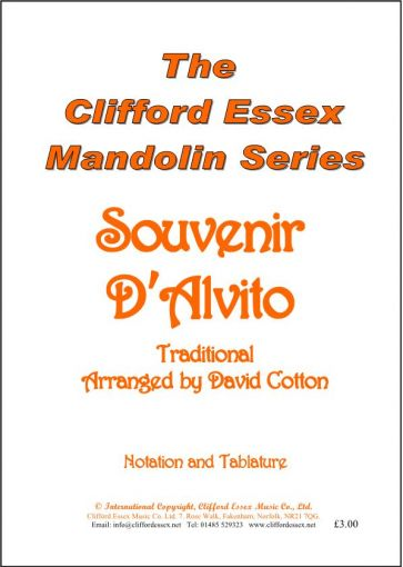 SOUVENIR D'ALVITO. TRADITIONAL. RECORDED BY JOE BROWN. BEST SELLER.