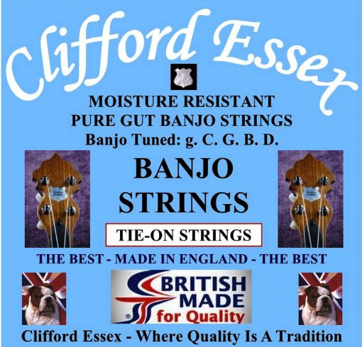 CLASSICAL BANJO PURE GUT TIE-ON. FOR THE CONNOISSEUR.