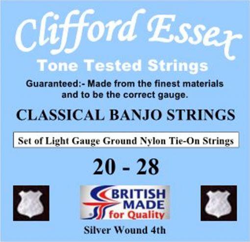 CLASSICAL BANJO STRINGS. LIGHT GAUGE. TIE-ON. 20 - 28.