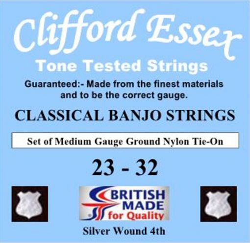 CLASSICAL BANJO STRINGS. MEDIUM GAUGE. TIE-ON. 23 - 32.