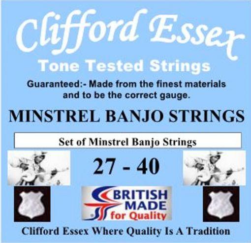 MINSTREL BANJO STRINGS. TUNED: d. G. D. F#. A.